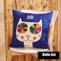 Sarung Bantal - Helo Cat Blue BG
