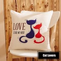 Sarung Bantal - Cat Lover