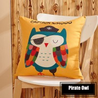 Sarung Bantal - Pirate Owl