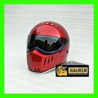 Helm Custom Classic Simpson Bandit Crystal With Flat Visor