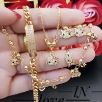 Xuping set perhiasan lapis emas 24k 1622