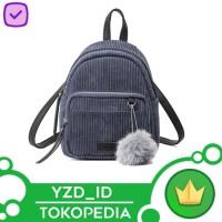 IMPORT | Tas Ransel Mini Corduroy / backpack mini wanita