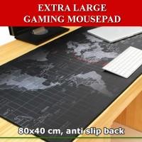 Gaming Mouse Pad Motif Peta Dunia 40 x 80 cm Mousepad
