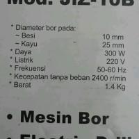 Mesin Bor 10mm Modern JiZ-10B Mitra Kecubung