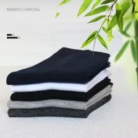 kaos kaki pria Bambu kaos kaki anti bakteri socks bamboo W08 - Hitam