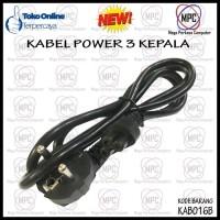 KABEL POWER ADAPTOR LAPTOP 3 KEPALA HIGH QUALITY