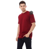 ( RED MAROON ) KAOS POLOS LENGAN PENDEK COTTON COMBED 24'S