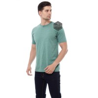 ( LIGHT GREEN ) KAOS POLOS TWOTONE MISTY LENGAN PENDEK 30'S