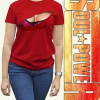 Kaos 3D wanita Boobs Original Soulpowerstyle