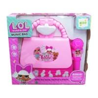 Mainan Anak Perempuan Microphone Music Bag LOL Surprise Tas Koper Mic