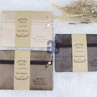 Nina zipper nylon pouch souvenir pernikahan termewah termurah emboss