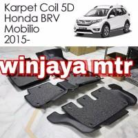 Karpet Mobil 5D Coil Honda MOBILIO BRV 2015- Mat 3 Baris