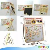 Papan Tulis Drawing Board Sempoa Alphabet Mainan Edukasi Anak