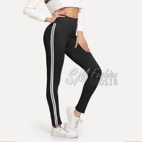 Celana Legging/Leging Wanita GUCI/GUCCI Pants Stripe Side List Samping