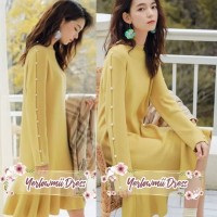 YERLOWMII DRESS Polos Casual Fashion Wanita Import Bangkok Keren