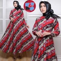gamis maxi long dress batik cantik keren umbrella klok lebar jumbo xxl