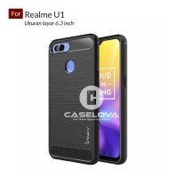 Case For Oppo Realme U1 ( 6.3 inch ) Softcase iPAKY Carbon