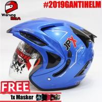 Helm JPX Biru Metalik - (Blue Navy) Bkn Helm INK kyt bogo anak