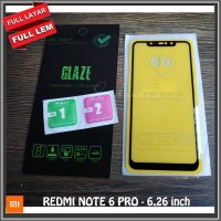 REDMI NOTE 6 PRO 6.26 inch Tempered Glass Full Glue Covered Layar