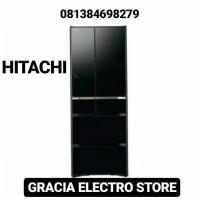 KULKAS HITACHI R-G520GN CRYSTAL BLACK MADE IN JAPAN SERIES NEW