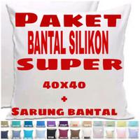 sarung bantal sofa kursi 40 x40 + bantal super (pkt 3)