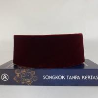 Peci Songkok Kopiah AWANG Merah Maroon Eksklusif AC Polos