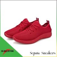 Sepatu Kets Sneaker Yz - Sepatu Pria Dan Wanita- Sepatu Sport Korea - Merah, 37