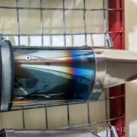 Knalpot chrome Halfblue suara ngebass untuk semua motor. inlet 50/51mm