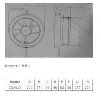 KDK 20WUD Exhaust Fan Wall 8 inch Putih