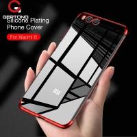 Case TPU Plating Transparan untuk Xiaomi Redmi 4A Mi 6 mix2 Mix 2S
