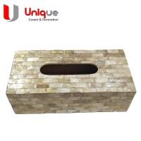 Tempat Tissue Kerang Kotak Gold