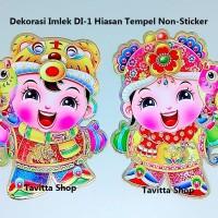 Dekorasi Imlek DI-1 Large Couple Pasangan Hiasan Pintu Tempel