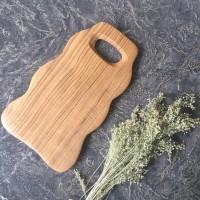 Talenan Kayu Jati Unik dengan Handle| Wood Serving Tray