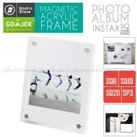 Frame Acrylic Magnet Album Kulkas Fujifilm Instax SQUARE SQ6 SQ10 SQ20