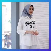 baju atasan muslim wanita outfit blouse hem pull tunik kemeja putih
