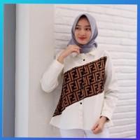 baju atasan muslim wanita outfit blouse fendi tunik kemeja blus putih