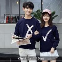 sweater couple | sweater pasangan | sweatshirt couple | check list lp