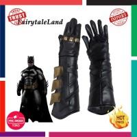 Cosplay Impor Batman Aksesori sarung tangan kulit Mewah sarung tangan