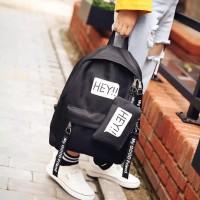 tas anak sekolah backpack hey coklat tas ransel