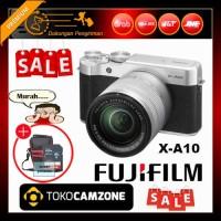 Fujifilm X-A10 / XA10 Kit 16-50mm f/3.5-5.6 OIS II Silver Free Bonus