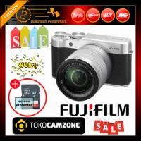 Fujifilm X-A10 / XA10 Kit 16-50mm f/3.5-5.6 OIS II Silver Free Memory