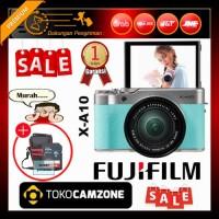 Fujifilm X-A10 / XA10 Kit 16-50mm f/3.5-5.6 OIS II Green Free Bonus
