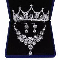 Perhiasan Mahkota Kalung Pengantin Modern -Paket Aksesoris Wedding -05