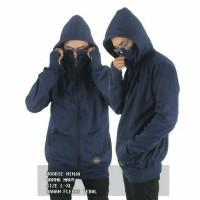 Jaket Sweater Fleece Ninja Navy Zipper Hoodie Pria Wanita Murah Grosir