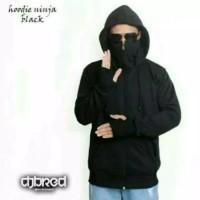 Jaket Sweater Fleece Ninja Hitam Zipper Hoodie Pria Wanita Murah