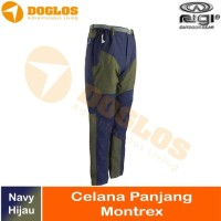 Celana Panjang Rigi Mountrex Outdoor pant Hiking Quickdry Hijau Navy