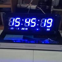 Jam Dinding Digital 4819 Biru Jumbo