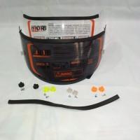 Paket flat visor dan tear off post - talang air visor helm pnp K2 R