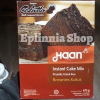 Haan Instant Cake Mix 475gr Brownies brownis Kukus