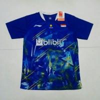 BAJU BADMINTON/BULUTANGKIS lining L.139(blue)100%real pic